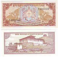 Bhutan P 14 B - 5 Ngultrum 1990 - UNC - Bhutan
