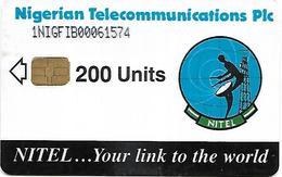 @+ Nigeria - NITEL -  Earth Station 200 (Chip SIE31) - Ref : NG-NIT-0020A (1NIGFIB) - Nigeria