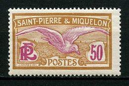 SPM MIQUELON 1922 N° 115 * Neuf MH Infime Trace Charnière TTB C 2 € Oiseaux Goéland Birds Faune Animaux - Nuevos