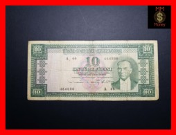 TURKEY 10 Turk Lirasi 1963  P. 161  Fine - Turchia