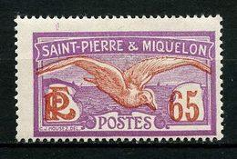 SPM MIQUELON 1922 N° 117 * Neuf MH Trace Charnière TB C 3 € Oiseaux Goéland Birds Faune Animaux - Nuevos