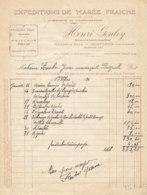 FA  1857 -  FACTURE   - EXPEDITIONS DE MAREE FRAICHE HENRI GOULEY   HONFLEUR - Francia