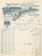 FA  1871 -  FACTURE   -  TISSAGE MECANIQUE & A LA MAIN DE  NEUVILLE  LOUVEL FRERES  ST GEORGES DES GROSEILLIERS   ORNE - Francia