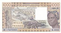 1ooo Francs  Niger  1981 H - K 002    Billet Neuf - Niger