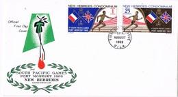36323. Carta F.D.C. VILA (Condiminium NEW HEBRIDSAS) 1969. South Pacific Games 69 - FDC