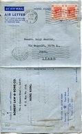 53013 Hong Kong, Air Letter Circuled 1952 To Italy - Hong Kong (...-1997)