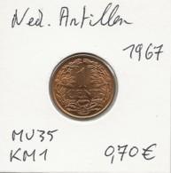 Nederlandse Antillen - 1 Cent- 1967 - KM 1 - Antille Olandesi