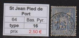 St Jean Pied De Port - Basses Pyrenees - Type Sage - Marcofilia (Sellos Separados)