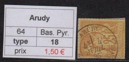 Arudy - Basses Pyrenees - Type Sage - Marcofilia (Sellos Separados)