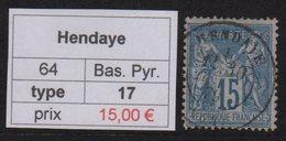 Hendaye - Basses Pyrenees - Type Sage - Marcofilia (Sellos Separados)