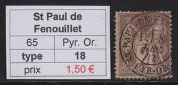 St Paul De Fenouillet - Pyrenees Orientales - Type Sage - Marcofilia (Sellos Separados)