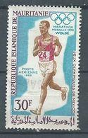Mauritanie Poste Aérienne YT N°90 Médaille D'or Aux Jeux Olympiques De Mexico 1968 Wolde Marathon Oblitéré ° - Mauritania (1960-...)