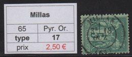 Millas - Pyrenees Orientales - Type Sage - Marcofilia (Sellos Separados)