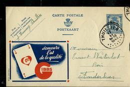Publibel Obl. N° 508 ( GIBBS  L'As De La Qualité) Obl. Thuillies 17/06/1943 - Entiers Postaux
