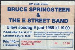Ticket Concert Bruce Springsteen & The E Street Band Ullevi Suède 9 Juin 1985 - Toegangskaarten