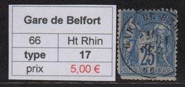 Gare De Belfort - Haut Rhin- Type Sage - Marcofilia (Sellos Separados)