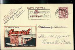 Publibel Obl. N° 766  ( Papier Peint: GENVAL ) Obl. Charleroi   1949 - Entiers Postaux