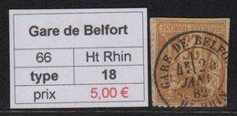 Gare De Belfort - Haut Rhin - Type Sage - Marcofilia (Sellos Separados)