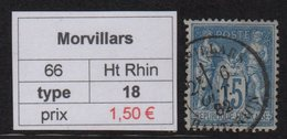 Morvillars - Haut Rhin - Type Sage - Marcofilia (Sellos Separados)