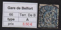 Gare De Belfort - Territoire De Belfort - Type Sage - Marcofilia (Sellos Separados)