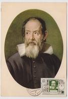 CARTE MAXIMUM CM Card USSR RUSSIA Astronomy Astronomer Galileo Galilei Italy Physicist Mechanic Space - Cartoline Maximum