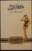 TARJETA PERFUMADA JEAN PAUL GAULTIER - AVIATOR - LE MALE. - Parfumkaarten