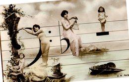 CPA  -  Portée Musicale - écrite - Femmes