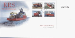 Ci 2BAT FDC RRS Sir David Attenborough Ship Navire Antarctique Britannique - FDC