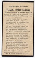 Bidprentje Oorlog Guerre War WOII Theophile VANDEN BONGARD Hamond Kompagnieoverste BNB+25-11-1943 Gefusilleerd Hasselt - Devotion Images