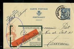 Gros Décalge !!! Publibel Obl. N° 471 ( Cubes Le Marmiton) Cuisine) Obl. Pâturages 1942 - Stamped Stationery