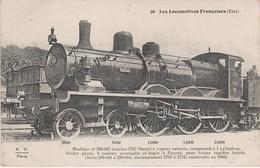 AK Les Locomotives Francaises Etat 26 Locomotive Machine No 230 507 Ancien 2707 Ouest Chemin De Fer Train Rapide - Eisenbahnen