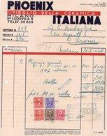 Fattura - PHOENIX ITALIANA - Meglio Della Ceramica 1943 - Italie