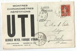 BESANCON DOUBS CARTE PUB MONTRES CHRONOMÈTRES UTINAM 1912 - Besancon