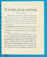 Litanie   St.  Joris   Oorbeek    1924 - Devotion Images