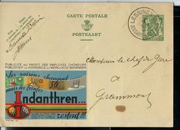 Publibel Obl. N° 209  ( Les Saisons Changent; Mais Les Teintes INDANTHREN Restent !!!) Obl. Lessines Touristique 1938 - Stamped Stationery