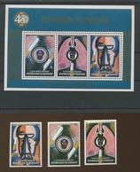 1990.  Lutte Contre Tabagisme. Tabac Tobacco Série 3v 963/965 Et Bloc.  ** COB - Burundi