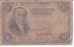 BILLETE DE ESPAÑA DE 25 PTAS DEL 19/02/1946 SERIE C  CALIDAD RC (BANKNOTE) - [ 3] 1936-1975 : Regime Di Franco