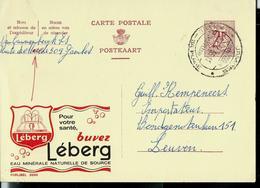 Publibel Obl. N° 2050  ( Eau Minérale: LEBERG)  Obl. Jambes  1965 - Stamped Stationery