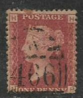 Great Britain, VRI, 1858 -79, 1d Red, SG 43 Or 44, Plate 217 Used. - Usati