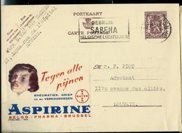 Publibel Obl. N° 955  ( ASPIRINE  BAYER) Obl. Antwerpen  13/06/1951 + Flamme Sabena - Stamped Stationery