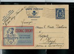 Publibel Obl. N° 586  ( Cognac ORIGNY ) Obl. Bxl 04/04/1945 - Stamped Stationery