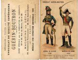 Chromo Guérin - Boutron Costumes Militaires - Général De Division - Guérin-Boutron