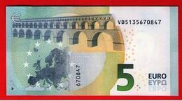 5 EURO SPAIN - ESPAÑA - V010 C3 - DRAGHI  VB5135670847 - UNC - NEUF - FDS - 5 Euro