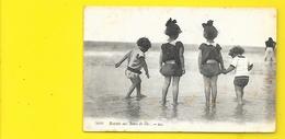 Enfants Au Bain De Mer écrite De Talais (LL) Gironde (33) - Sonstige Gemeinden