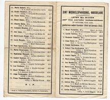 Bidprentje Oorlog Guerre War WOII Roeselare Sint Michielsparochie Overleden Parochianen 1944-1945 - Devotion Images