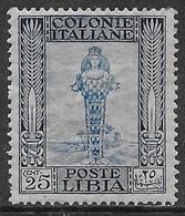 Italia Italy 1924 Colonie Libia Pittorica No Filigrana D14 C25 Sa N.49 Nuovo MH * - Libië