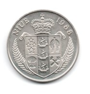 Niue 5 Dollars 1988  J.f.kennedy - Niue