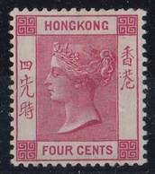 HONG KONG 1901  QV  4C   SG 57  SUPERB  MLH - Hong Kong (...-1997)