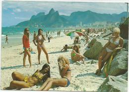 CPM  Brésil Rio De Janeiro  Plage Arpoador Castelinho - Rio De Janeiro