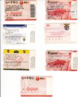 Portugal-7 Bilhetes De Entradas Em Campos De Futebol - Trading Cards